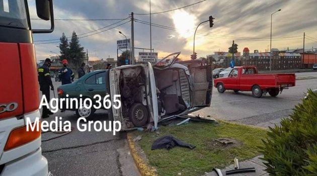 Κόμβος Αγ. Δημητρίου Αγρινίου: Σφοδρή σύγκρουση δύο οχημάτων – Απεγκλωβισμός οδηγού (Videos – Photos)