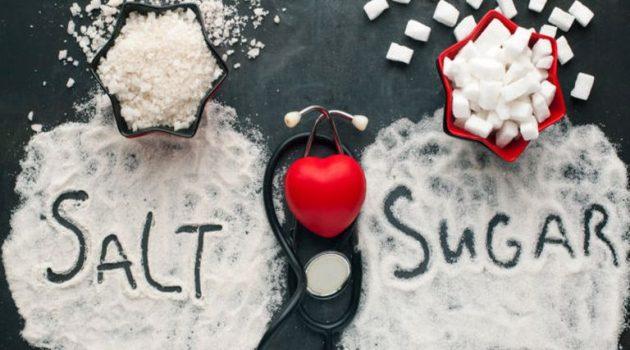 Πίεση αίματος: Τι ισχύει με το αλάτι και τι με την ζάχαρη