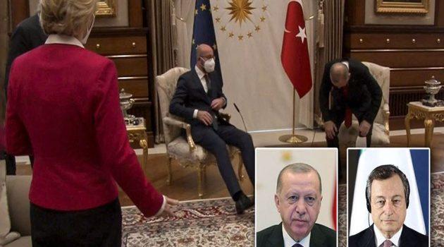 «Sofagate»: Διπλωματικό επεισόδιο Ιταλίας – Τουρκίας μετά το «δικτάτορας Ερντογάν» του Ντράγκι