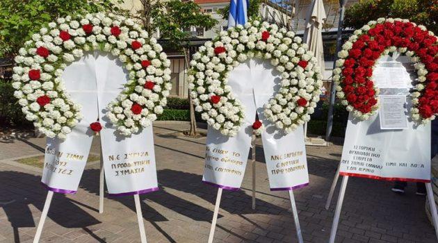 Αγρίνιο – Μ. Παρασκευή: Πλούσιο φωτορεπορτάζ του AgrinioTimes.gr από την κατάθεση στεφάνων στην Πλατεία