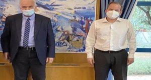 Συνάντηση Λύρου-Καραμανλή για το ζήτημα των υποδομών (Photo)
