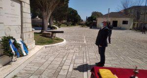 Μεσολόγγι: Κατέθεσε στεφάνι στον Κήπο των Ηρώων ο Ν. Παπαναστάσης…