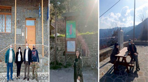 Διήμερη περιοδεία της Μαρίας Σαλμά σε χωριά της Ορεινής Ναυπακτίας (Video – Photos)