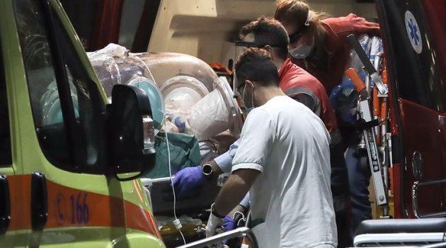 Αεροδιακομιδή 44χρονου Αγρινιώτη στο Νοσοκομείο «Αττικόν»