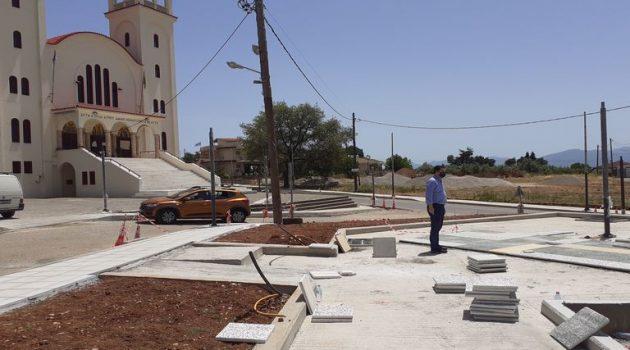 Δήμος Αγρινίου: Εργασίες ανάπλασης της πλατείας στην Αγία Βαρβάρα (Photos)