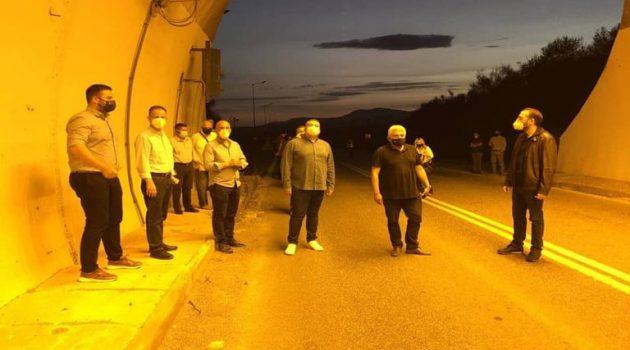 Σε λειτουργία ο νέος φωτισμός της σήραγγας του Αγίου Ηλία Αιτωλ/νίας (Video – Photos)