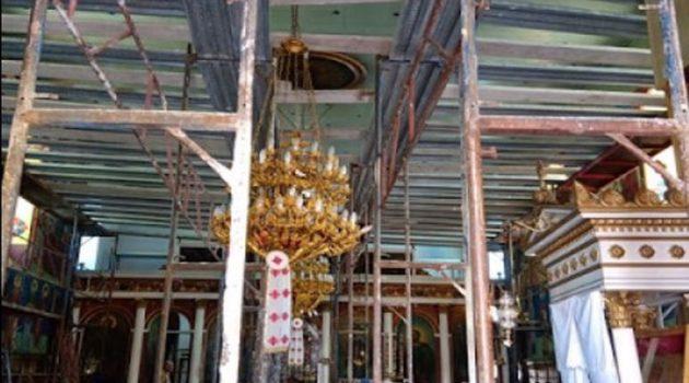 Μπαμπίνη: Αντικατάσταση οροφής Ιερού Ναού Αγίου Νικολάου (Photos)