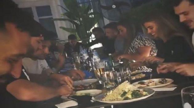 Το δείπνο παικτών της Ξάνθης πριν τα μπαράζ με τον Παναιτωλικό