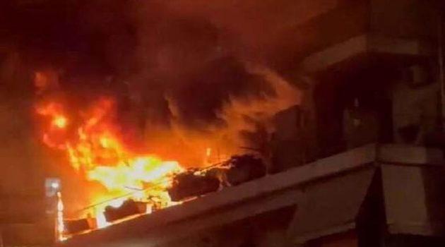 Πυρκαγιά κατέστρεψε ολοσχερώς διαμέρισμα στην Πάτρα (Videos – Photos)