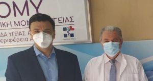Ο Αναληψιώτης Διευθυντής Κέντρου Υγείας Κεραμεικού με τον Υπουργό Υγείας