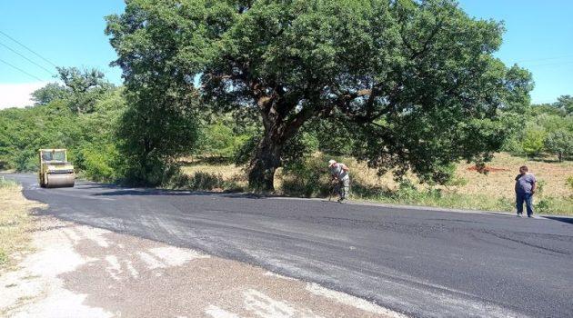 Συνεχίζεται η ασφαλτόστρωση στην επαρχιακή οδό Μαχαιράς – Χρυσοβίτσας (Photo)