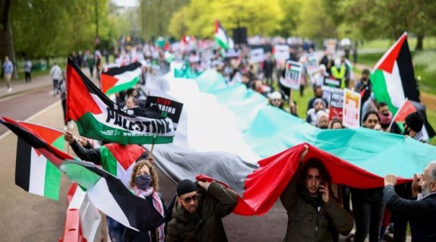 Μ. Βρετανία: Διαδήλωση στο Λονδίνο υπέρ των Παλαιστινίων