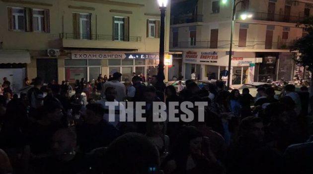«Παράνοια» στην Πάτρα: Έκλεισαν τα μαγαζιά, γέμισαν… τα σκαλιά (Video – Photos)