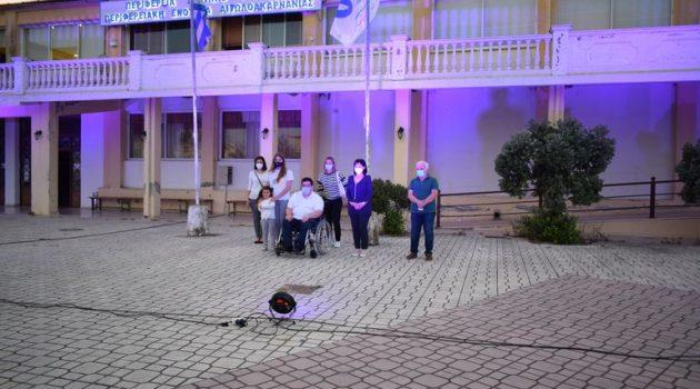 Η Μαρία Σαλμά για τη φωταγώγηση του Διοικητηρίου της Π.Ε. Αιτωλοακαρνανίας