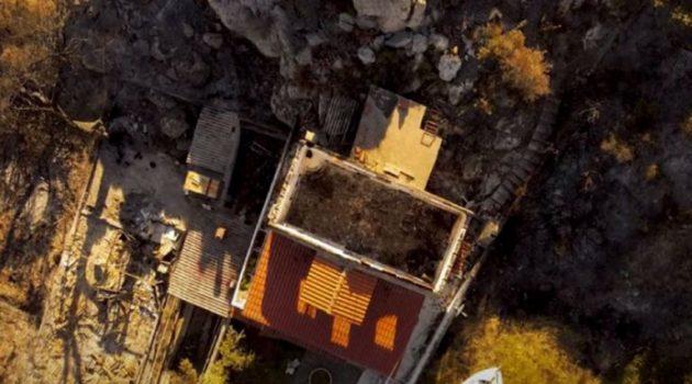 Φωτιά στο Σχίνο: Το πριν και το μετά της οικολογικής καταστροφής (Video)