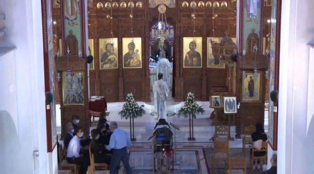 Η σωρός του ηγουμένου π. Ιερωνύμου στην Παναγία Ναυπακτιώτισσα