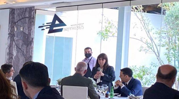 Αγρίνιο: Η προσφώνηση του Δημάρχου στο γεύμα προς τιμή της ΠτΔ (Video – Photos)