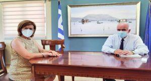 Μεσολόγγι: Με τη νέα Διοικήτρια του Νοσοκομείου συναντήθηκε ο Κώστας…