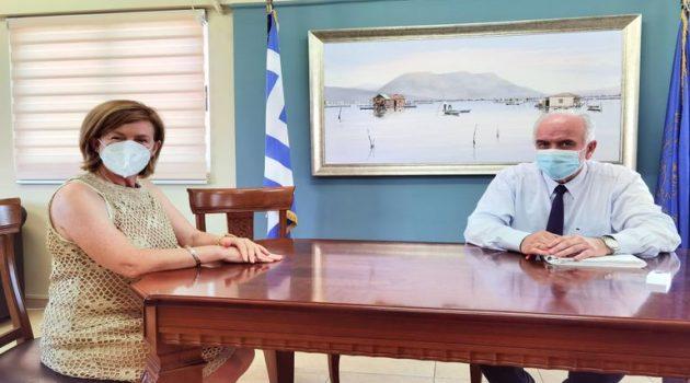 Μεσολόγγι: Με τη νέα Διοικήτρια του Νοσοκομείου συναντήθηκε ο Κώστας Λύρος