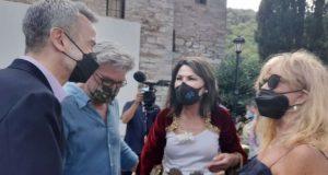 Κερτ Ράσελ με Γιάννα Αγγελοπούλου Δασκαλάκη και Ζέρβα στα εγκαίνια…