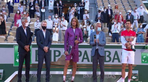 Τελικός Roland Garros: Ο Τζόκοβιτς επικράτησε του συγκινητικού Στέφανου Τσιτσιπά με 3-2