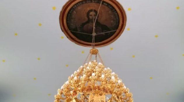 Μπαμπίνη: Περατώθηκε η κατασκευή της οροφής της εκκλησίας του Αγίου Νικολάου (Photos)