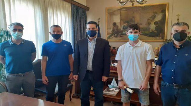 Τον Ν. Σταμούλη συνάντησε ο Γ. Παπαναστασίου στο Δημαρχείο Αγρινίου