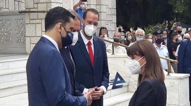 Η άφιξη της ΠτΔ Κατερίνας Σακελλαροπούλου στο Αγρίνιο (Photos – Video)