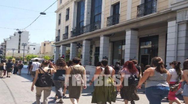 Πορεία στην Πάτρα για την δολοφονία της Καρολάιν