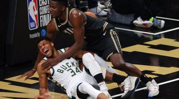 NBA – «Παγωμάρα» με Γιάννη: Χτύπησε στο γόνατο, φόβοι για μεγάλη ζημιά (Video)