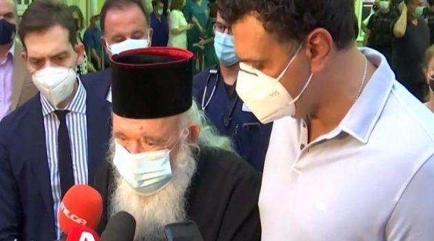 Επίθεση με βιτριόλι: «Αποφύγαμε τα χειρότερα», είπε ο Αρχιεπίσκοπος Ιερώνυμος (Video)