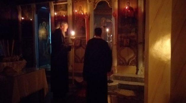 Με κατάνυξη τελέστηκε η Ιερά Αγρυπνία στον Ι.Ν. Παμμεγίστων Ταξιαρχών Σαργιάδας