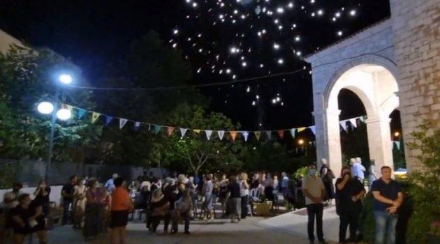 Τρίκαλα: Εγκαίνια του ναού του Αγίου Παϊσίου με βεγγαλικά (Video)