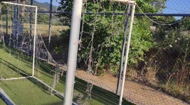 Αμφιλοχία: Σοβαρά προβλήματα στο Γήπεδο 5Χ5 στους Γιαννόπουλους (Photos)