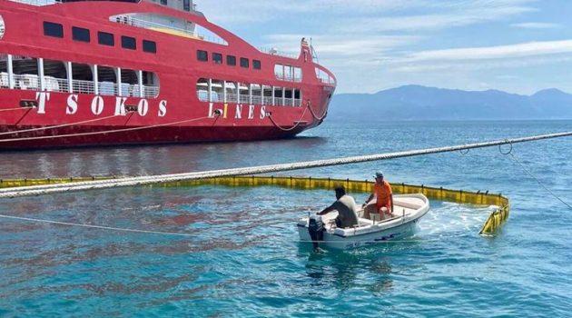 Άσκηση αντιμετώπισης περιστατικού θαλάσσιας ρύπανσης στο Αντίρριο (Photos)