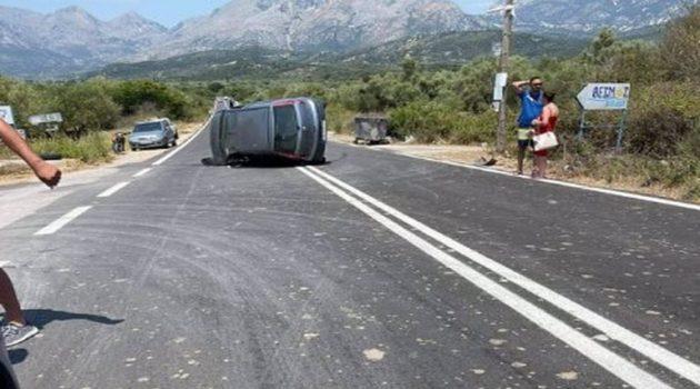 Ατύχημα στον δρόμο Αστακού – Μύτικα | Ασθενοφόρο παρέλαβε τους τραυματίες