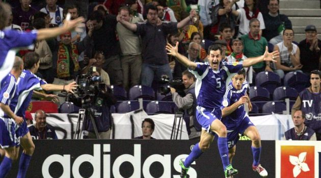 Euro 2004: Η κεφαλιά του Τραϊανού Δέλλα κόντρα στην Τσεχία! (Video)