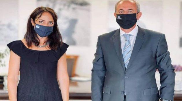 Με την Δόμνα Μιχαηλίδου συναντήθηκε ο Δήμαρχος Θέρμου