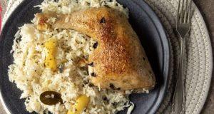 Κοτόπουλο λεμονάτο με ρύζι στον φούρνο