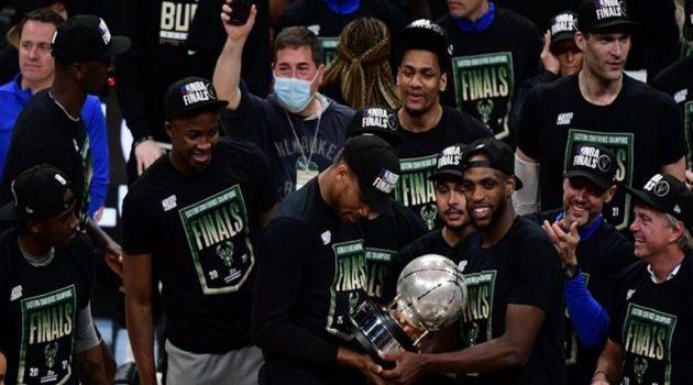 NBA: Οι Μπακς του Γιάννη Αντετοκούνμπο κατέκτησαν το Πρωτάθλημα στην Ανατολή (Video)