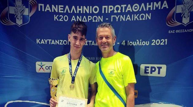 Πρωταθλητής Ελλάδας ο Αγρινιώτης Ν. Σταμούλης στο Πανελλήνιο Πρωτάθλημα Κ20 (Video)