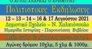 Αναλυτικά το Πρόγραμμα των Εκδηλώσεων του Συλλόγου Χαλκιοπουλιτών Αθήνας –…