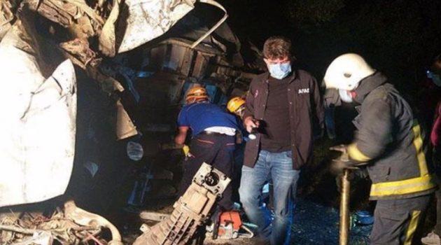Τουρκία: Τουλάχιστον 12 νεκροί σε τροχαίο με λεωφορείο που μετέφερε μετανάστες