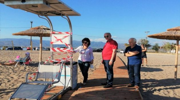Εγκατάσταση Seatrac στην Παραλία Τουρλίδας Ι.Π. Μεσολογγίου παρουσία της Μ. Σαλμά