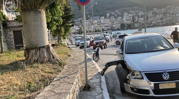 Τροχαίο ατύχημα στην παραλία της Αμφιλοχίας (Photos)