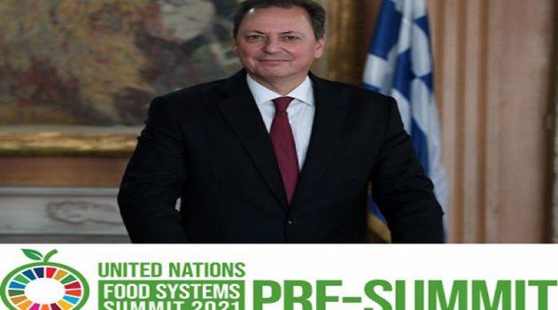 O Σπήλιος Λιβανός σε Συνδιάσκεψη του Ο.Η.Ε. για τα τρόφιμα
