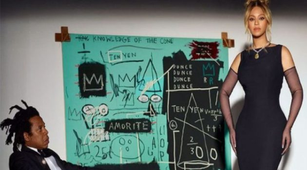 Πίνακας του Basquiat σε διαφήμιση με τους Beyoncé και Jay-Z