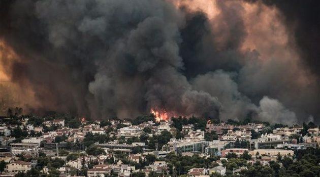 Εισαγγελική έρευνα για την καταστροφική φωτιά στη Βαρυμπόμπη