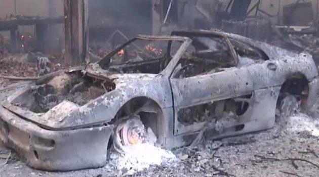 Φωτιά στη Βαρυμπόμπη: Κάηκαν σπίτια, επιχειρήσεις και αυτοκίνητα (Video)