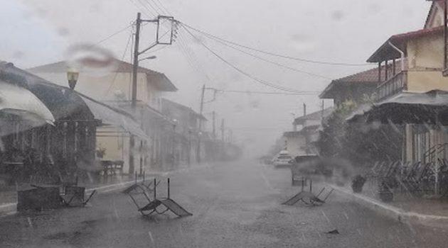 Έντονες βροχές και άνεμοι στην Μακρυνεία (Photos)